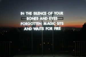 recycled sunlight pieces by robert montgomery